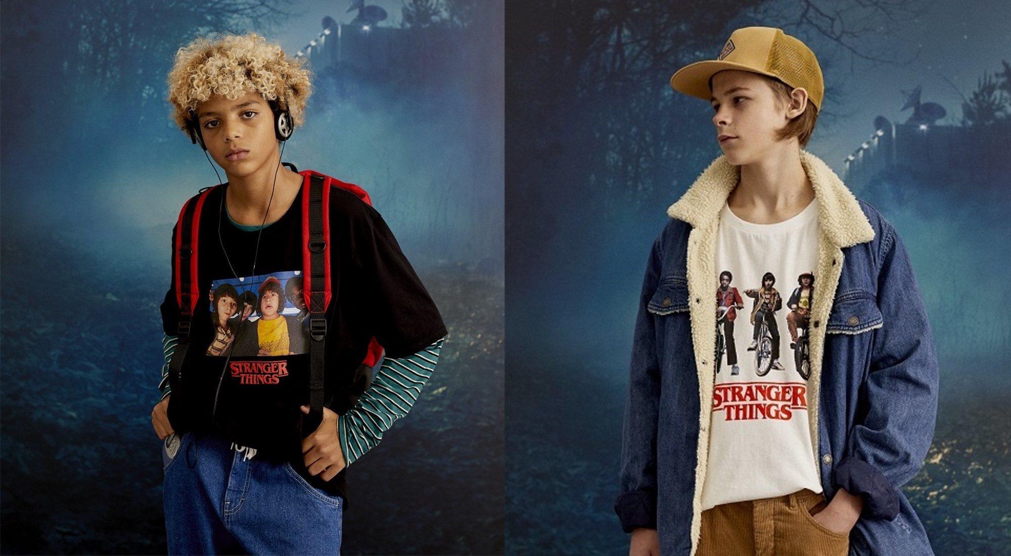 'Stranger Things' y Pull&Bear presentan la colección de invierno de la serie