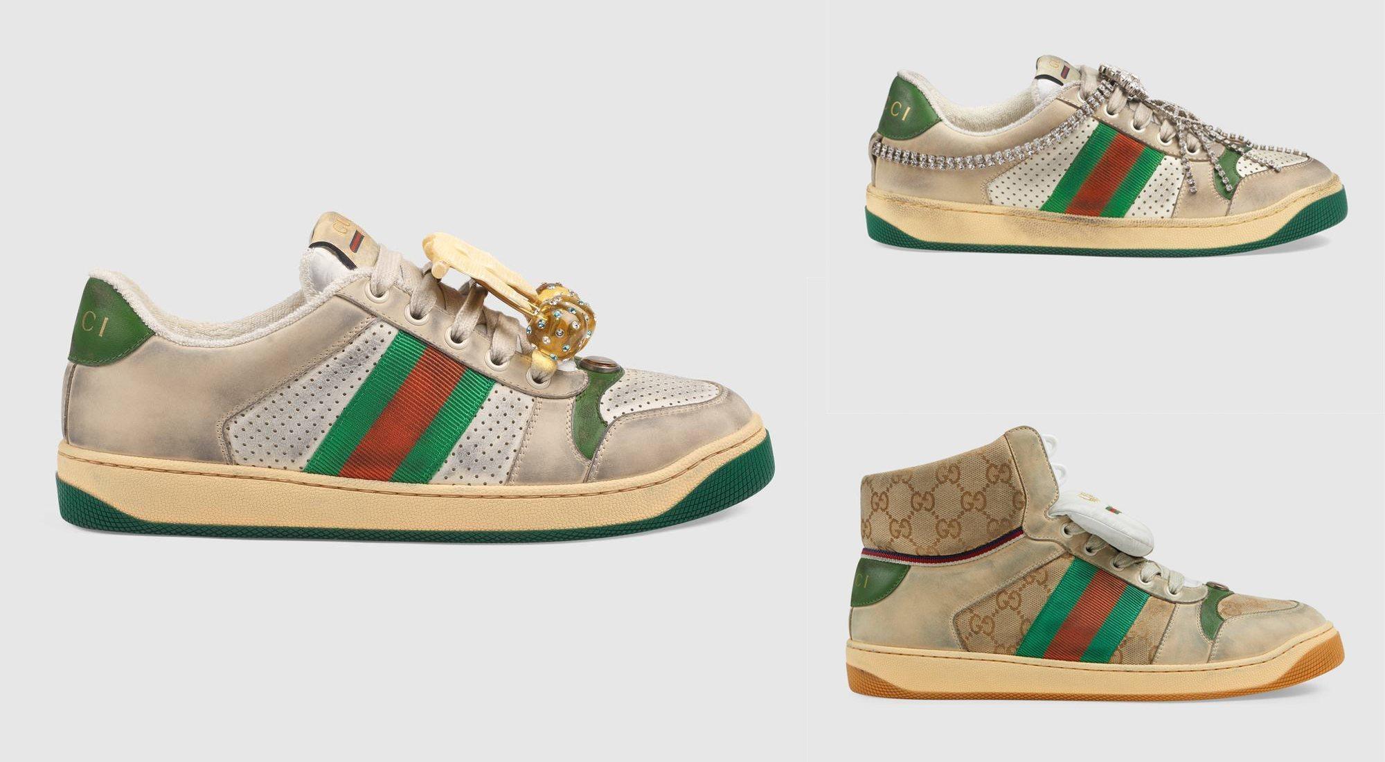 Gucci vende unas zapatillas gastadas por 700 euros: esta es la explicación