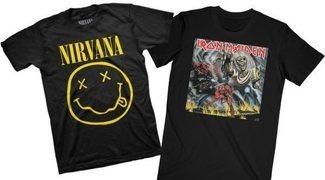 Las camisetas más icónicas del pop, rock y heavy
