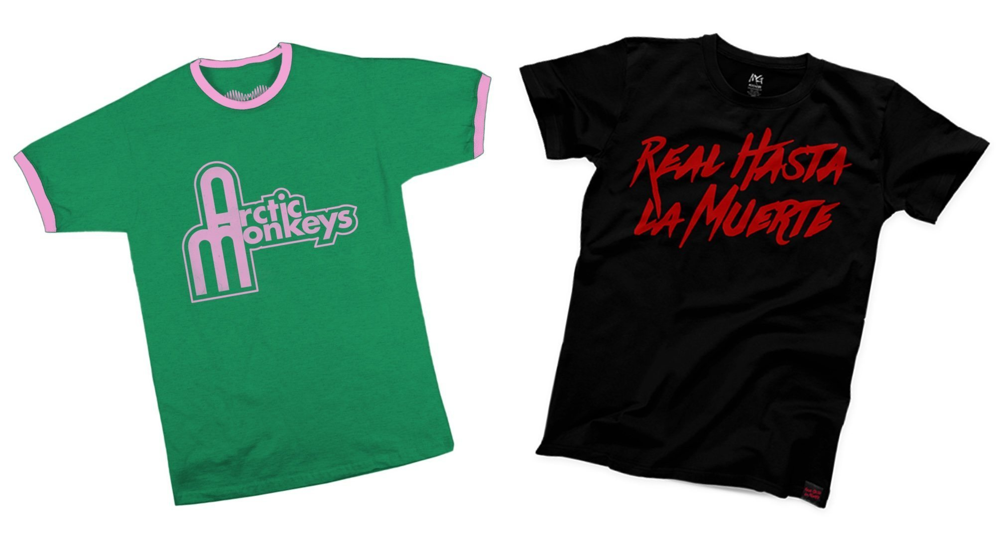 Camisetas icónicas de reggaeton, rap e indie