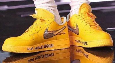 LeBron & Abloh Off-White x Nike Air Force 1 Low 'Yellow', las sneakers de 2021