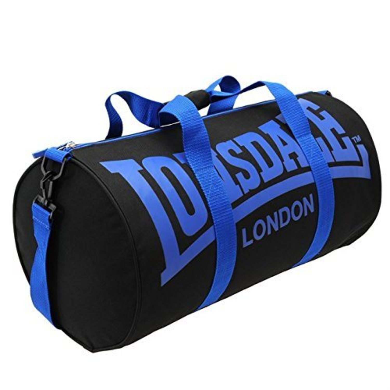 Bolsa de deporte Lonsdale negra y azul (disponibles más colores).
