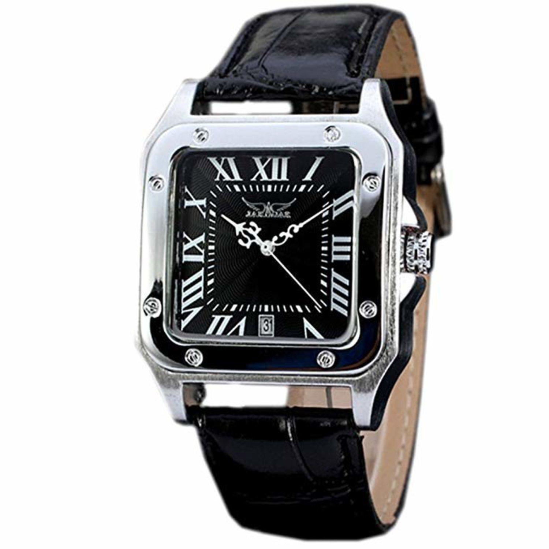 A pesar de que lo más habitual es llevar un reloj con caja circular para las ocasiones formales, diseños como este también son válidos.