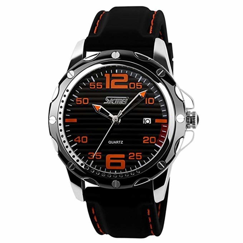 Reloj con correa de silicona y resistente al agua.