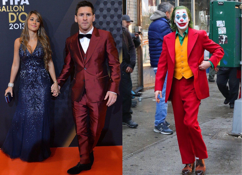A la izquierda, Messi en 2013. A la derecha, Joaquín Phoenix, el próximo Joker.