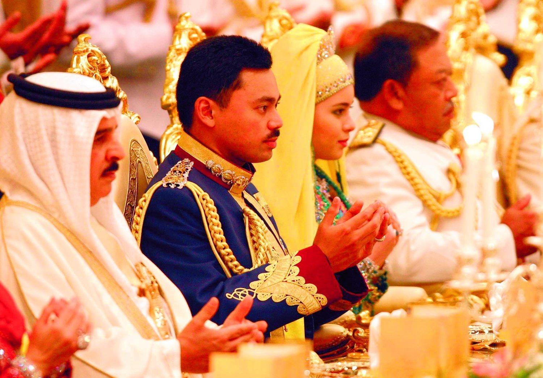 Boda Real en Brunei, el príncipe Muhtadee Billah se casó con su joven novia, Sarah Salleh.