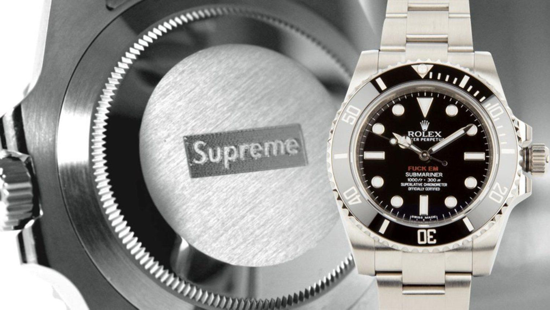 Rolex siempre ha sido sinónimo de lujo, si le sumas Supreme, la combinación es realmente cara