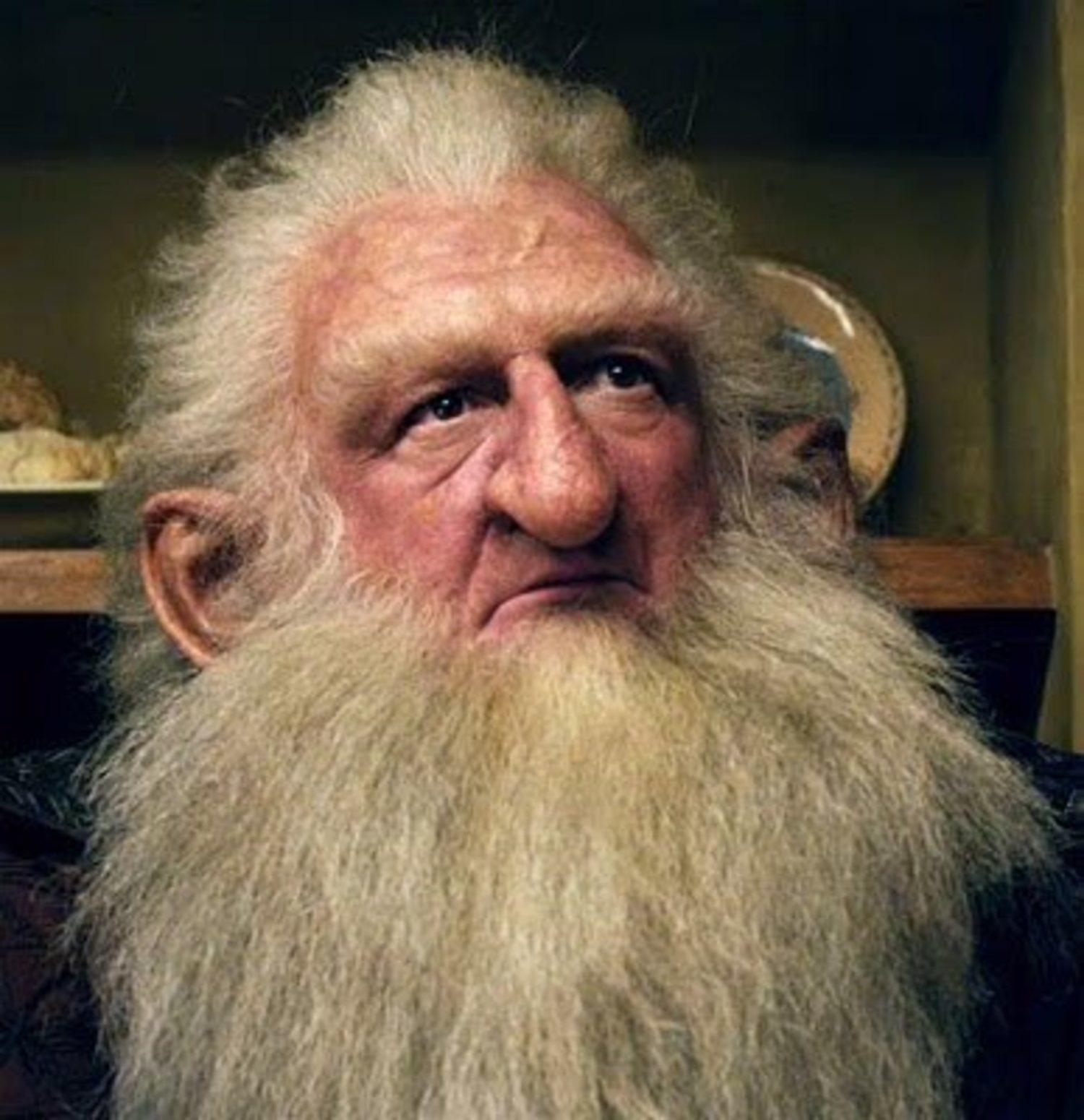 Ken Stott, en el papel de 'Balin' en la película 'El Hobbit', con una barba 'Old Dutch' que como decimos, ya es un estilo pasado de moda