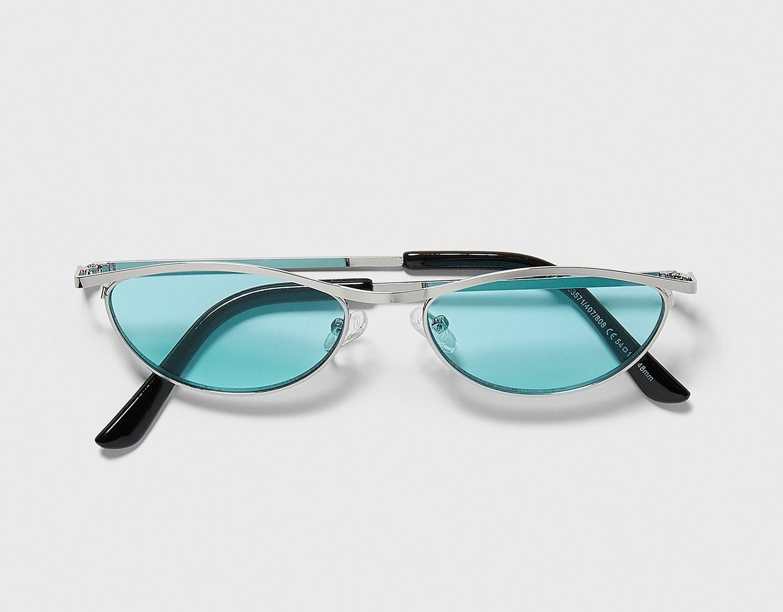 Gafas de sol 'Cat Eye' con montura metálica.
