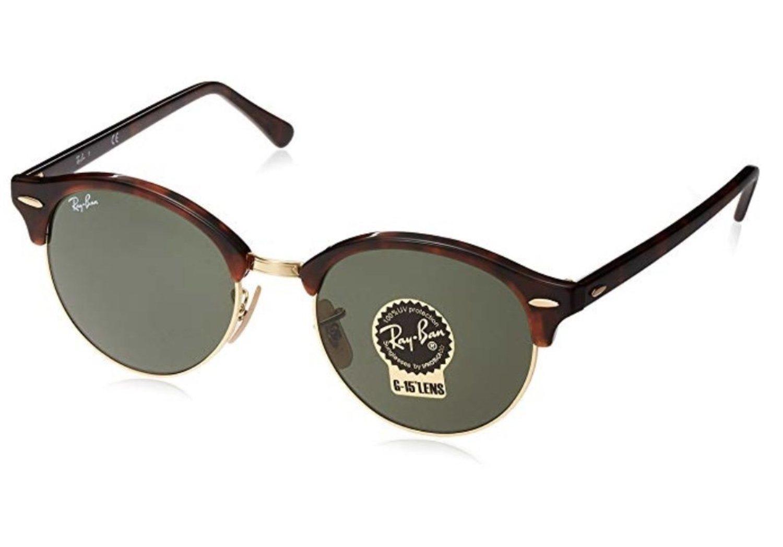 Gafas Ray-Ban 'browline' con cristal ovalado.