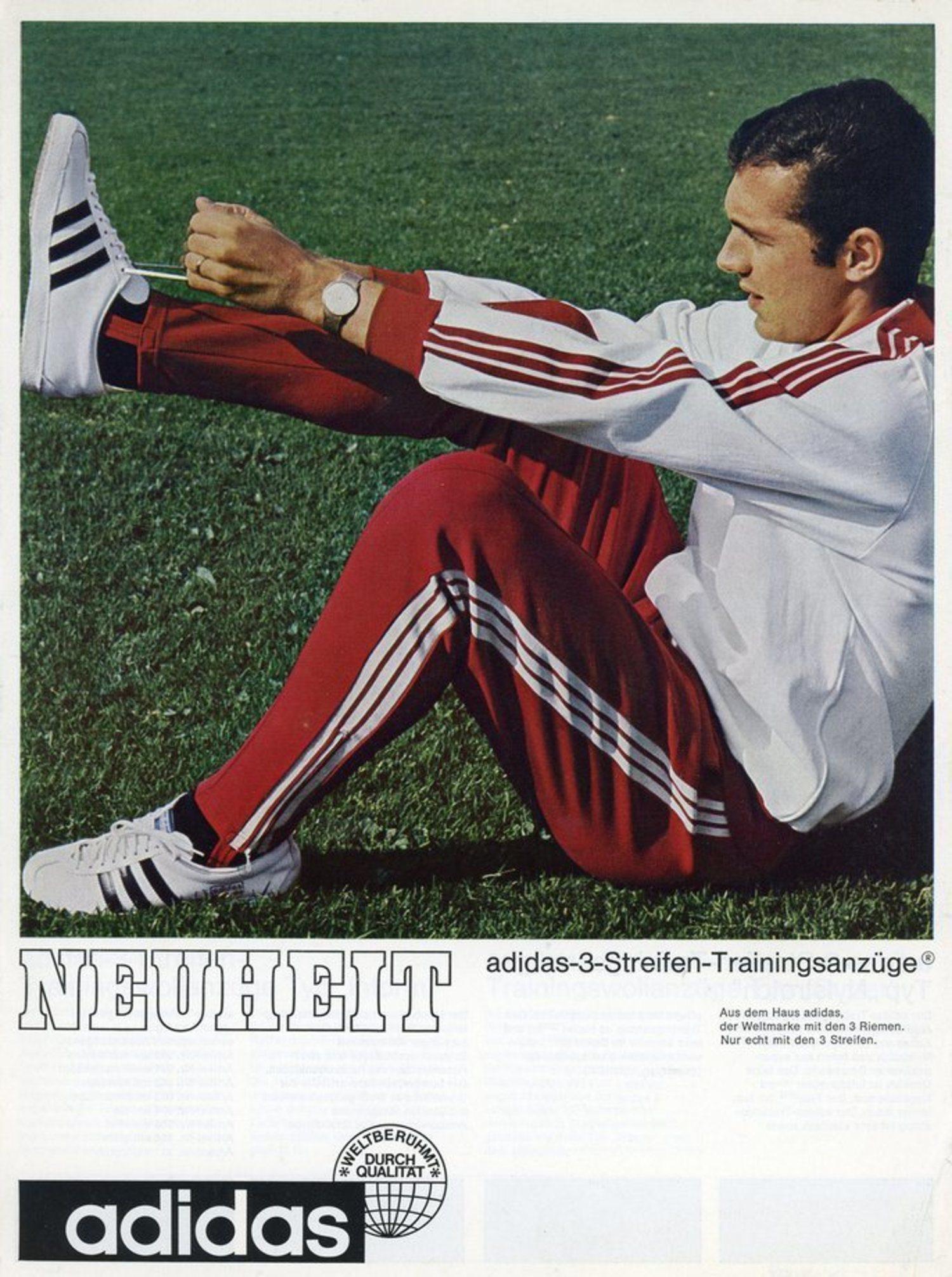 Adidas utilizó la figura del 'Kaiser' para promocionar uno de sus productos históricos: el 'chándal Beckenbauer'.