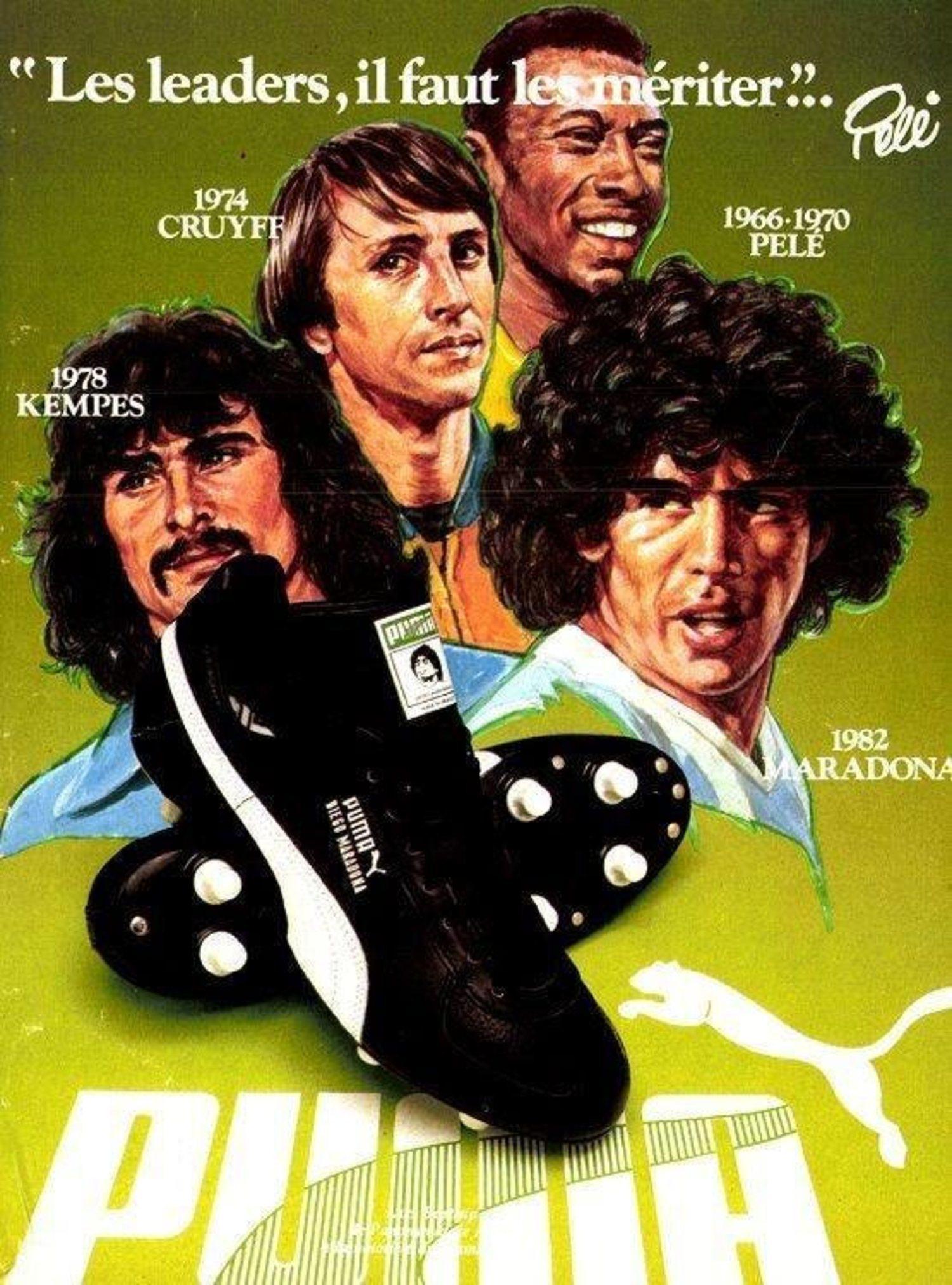 La estrategia de Puma para competir con Adidas fue proveer de calzado a las estrellas mundiales.