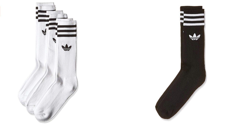 Calcetines largos Adidas negros o blancos (más colores disponibles).