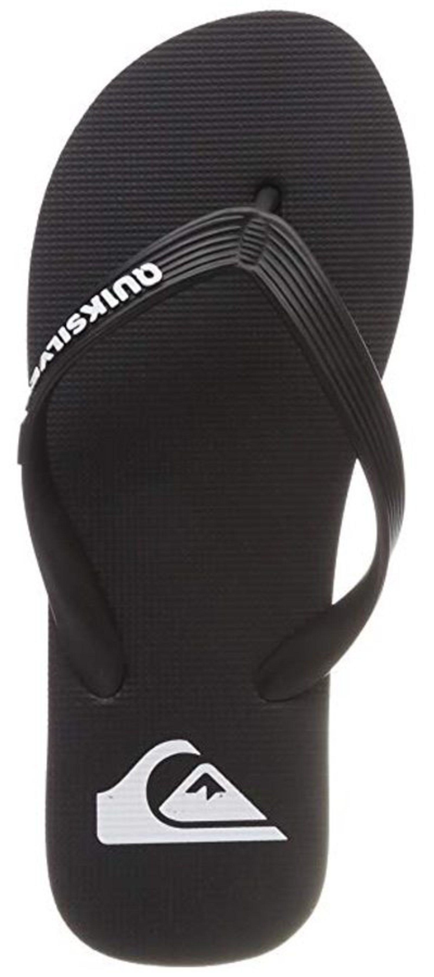 Flip-flop negro, suela y tira de goma, de Quiksilver