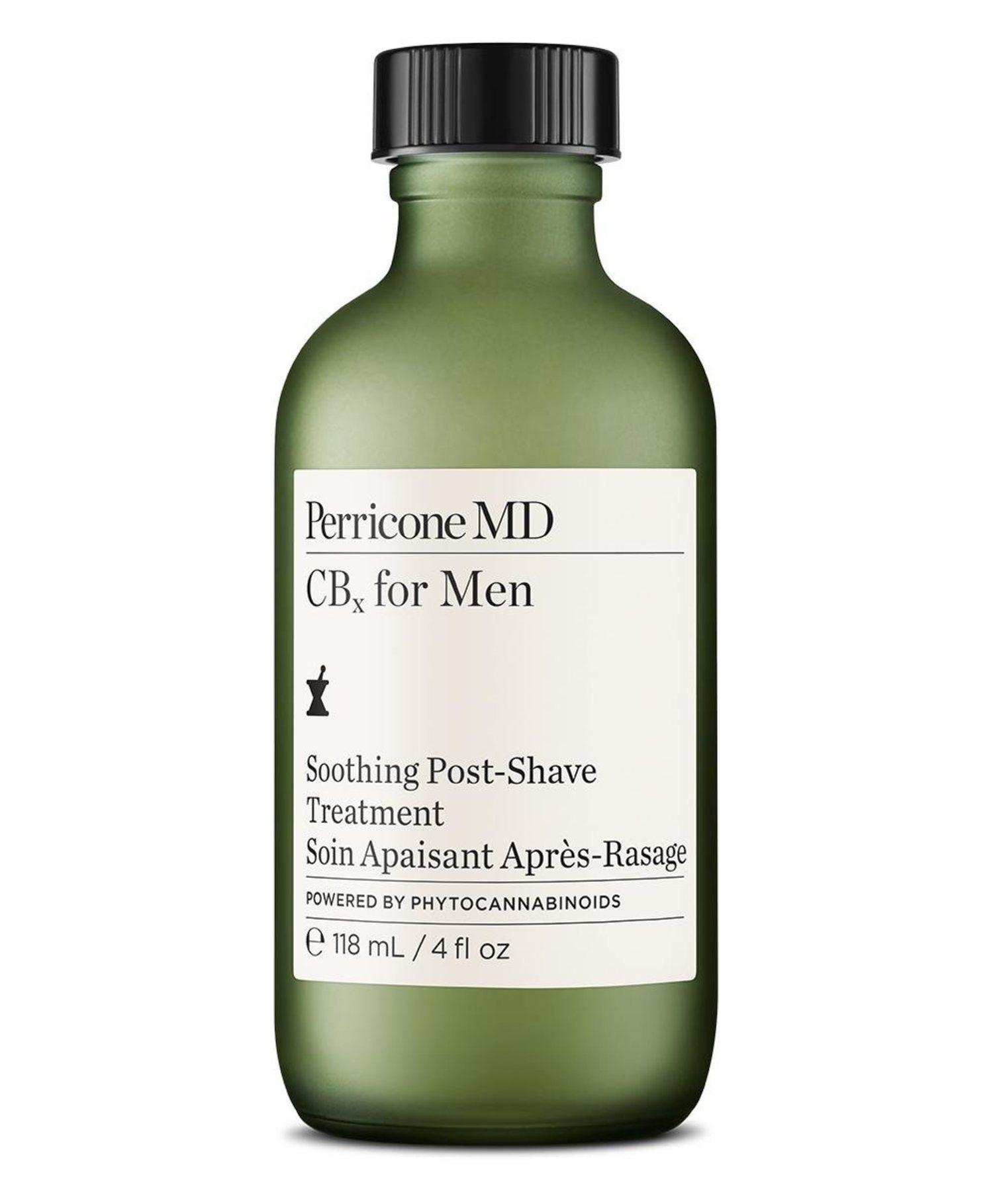 El aftershave incluye fitocannabinoides y ginseng siberiano, en un frasco de 118 ml