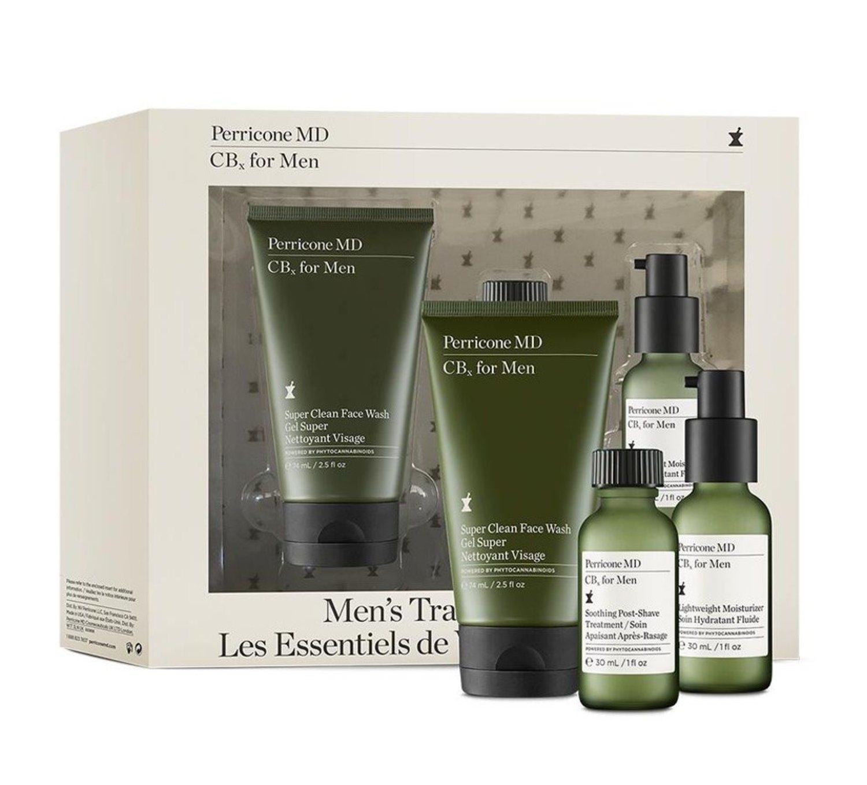 Contiene un limpiador facial de 74 ml, y tanto el aftershave como el hidratante de 30 ml