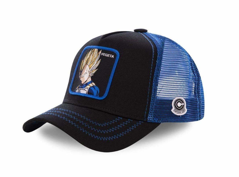 Gorra trucker negra/azul de Vegeta.