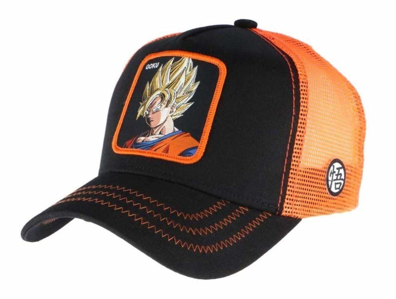 Gorra trucker negra/naranja de Goku.