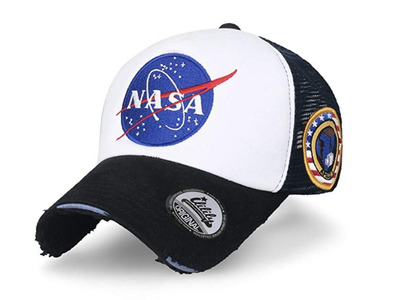 Gorra trucker con el símbolo de la NASA (más diseños disponibles).