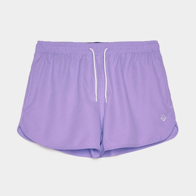 Bañador corto de Bershka en color lila