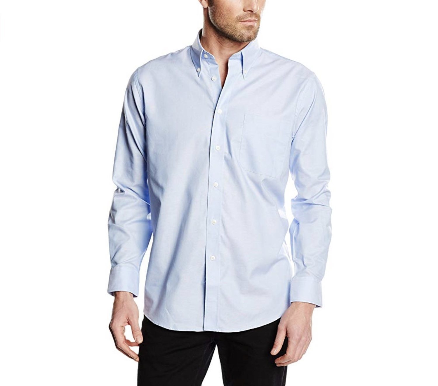 Camisa azul de la marca Fruit of the Loom.
