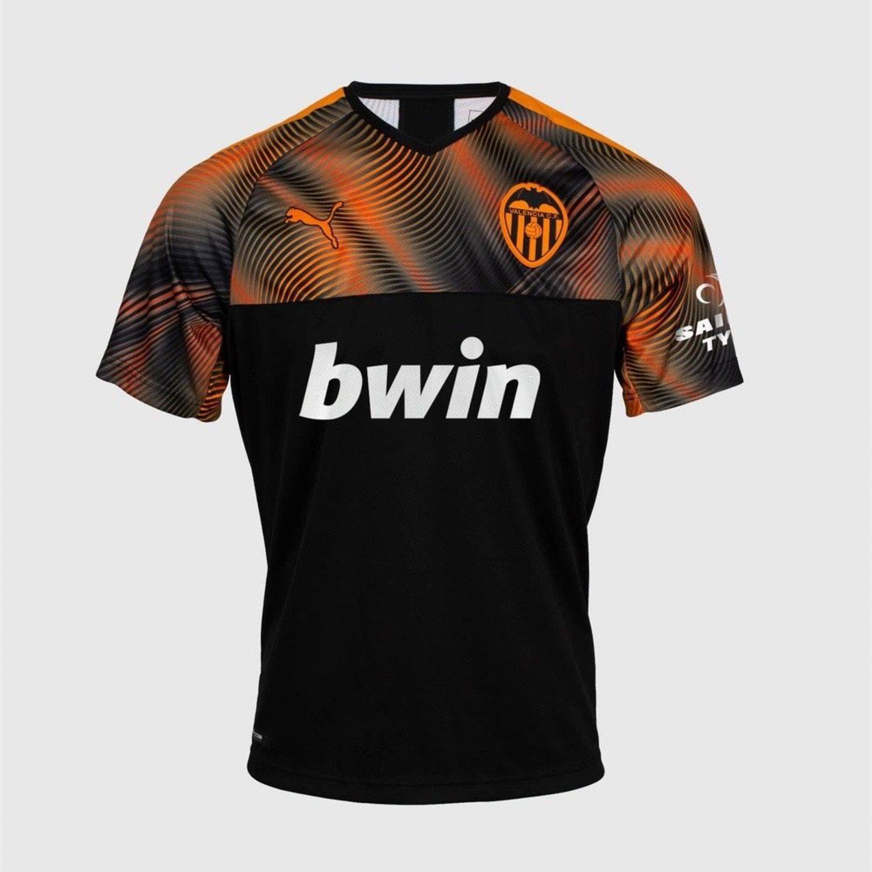Equipación visitante negra y naranja Puma Valencia CF