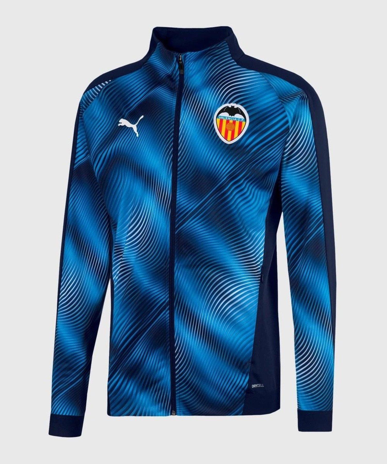 Sudadera azul y negra del Valencia CF