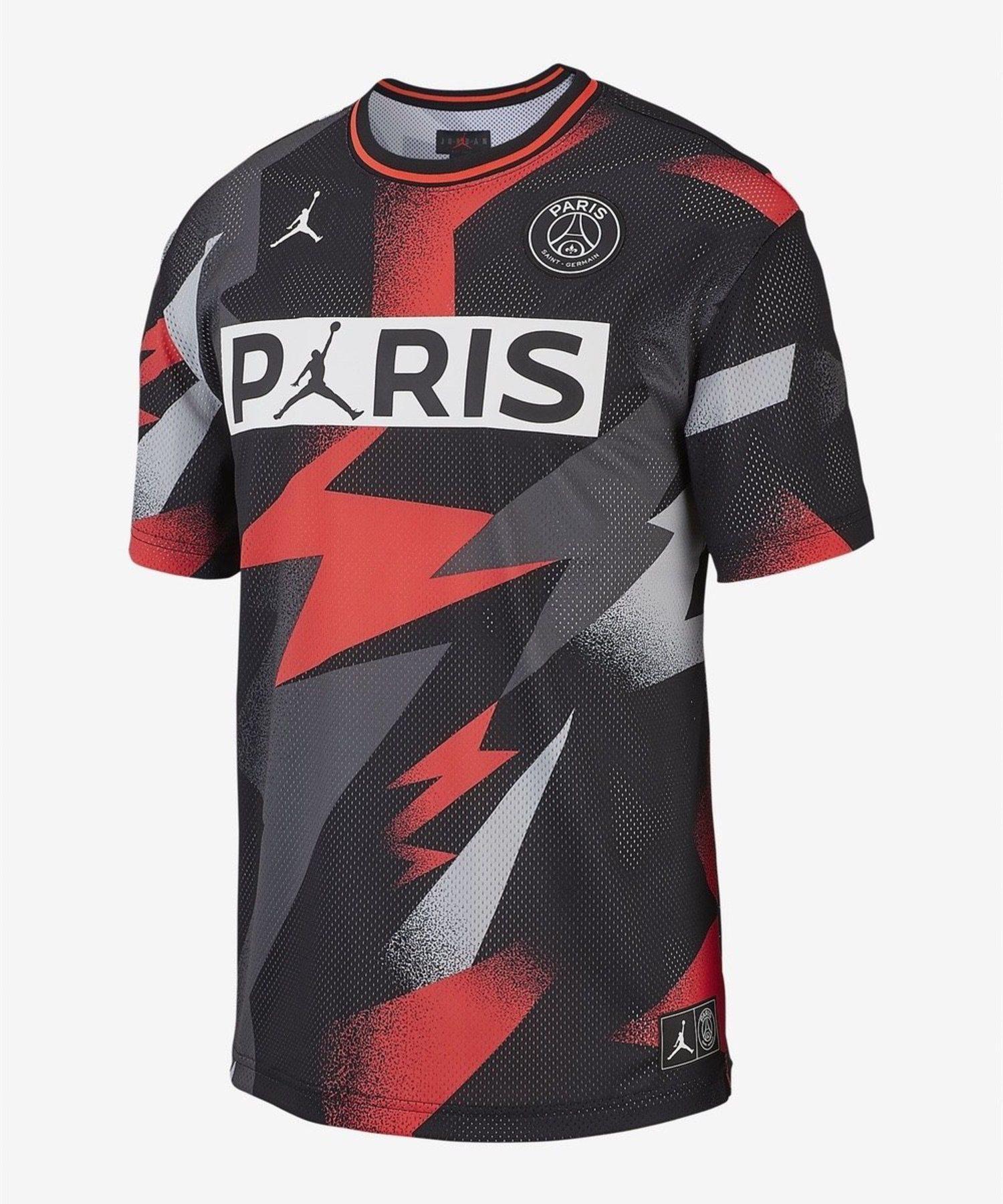 Camiseta de malla de manga corta PSG