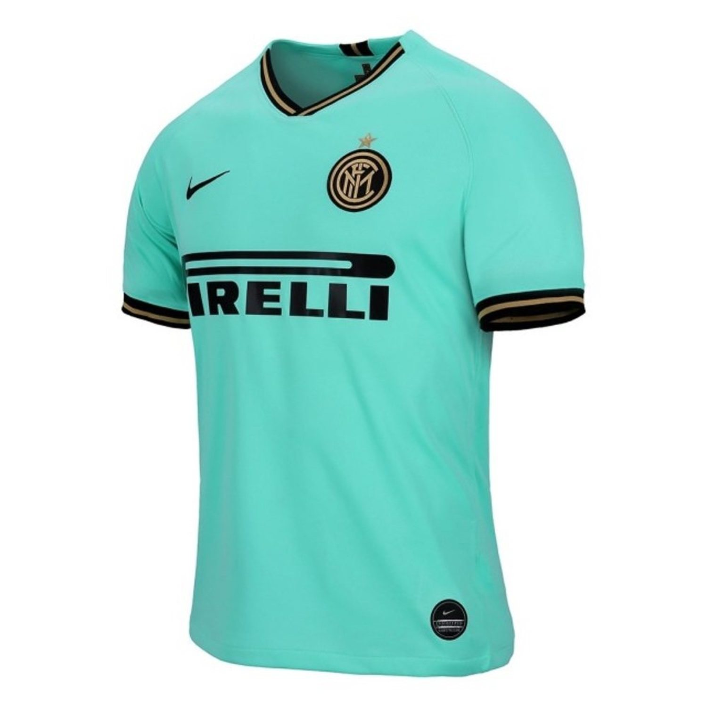Camiseta visitante del Inter de Milán en azul claro con detalles amarillos