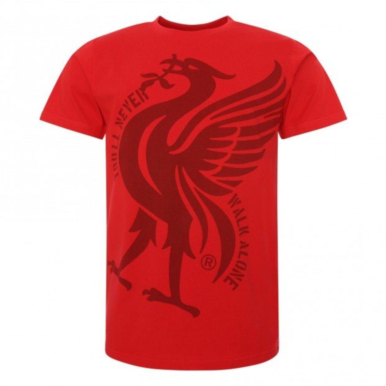 Camiseta casual Liverpool en rojo con dragón estampado