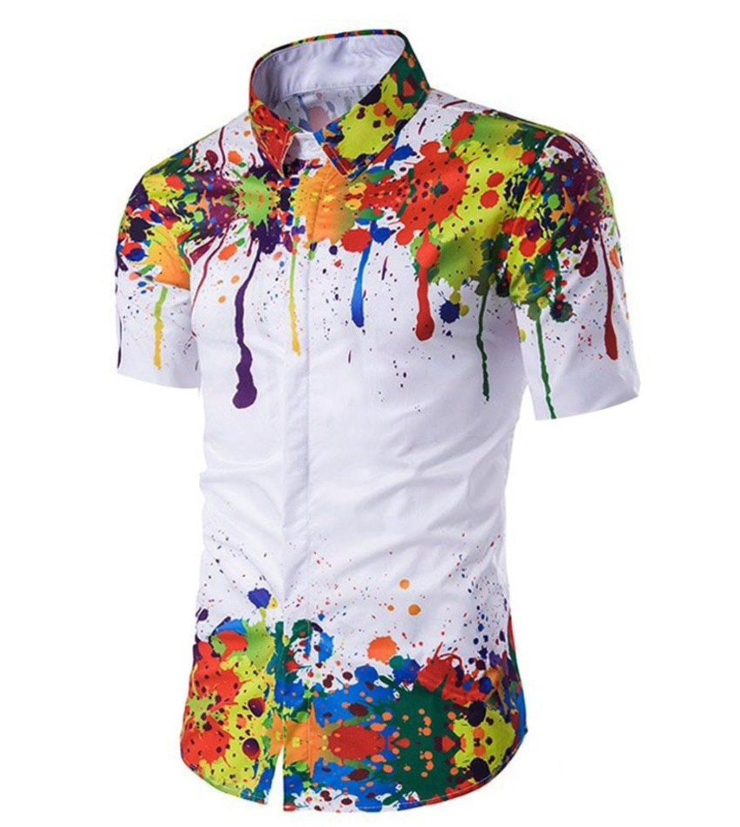 Si eres propenso a mancharte, en esta camisa se camuflará sin ningún problema