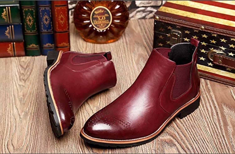 Botas Chelsea rojas de cuero de la marca Neoker.
