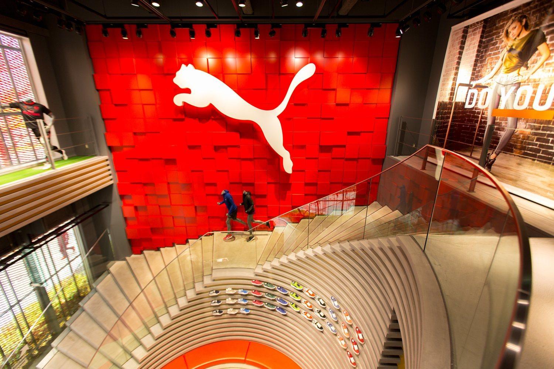 Espectacular sede de Puma en Hong Kong.