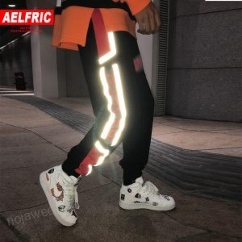 Los pantalones reflectantes eran para los que más querían arriesgar.