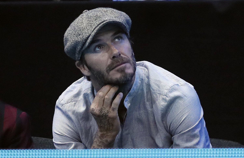 David Beckham con gorra de estilo irlandesa.