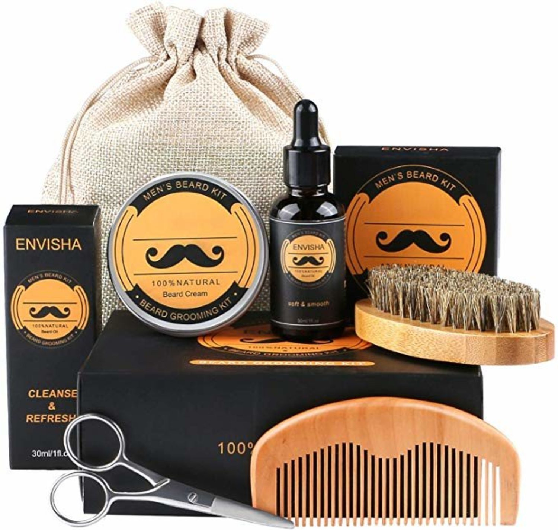 Kit para el cuidado de barba.