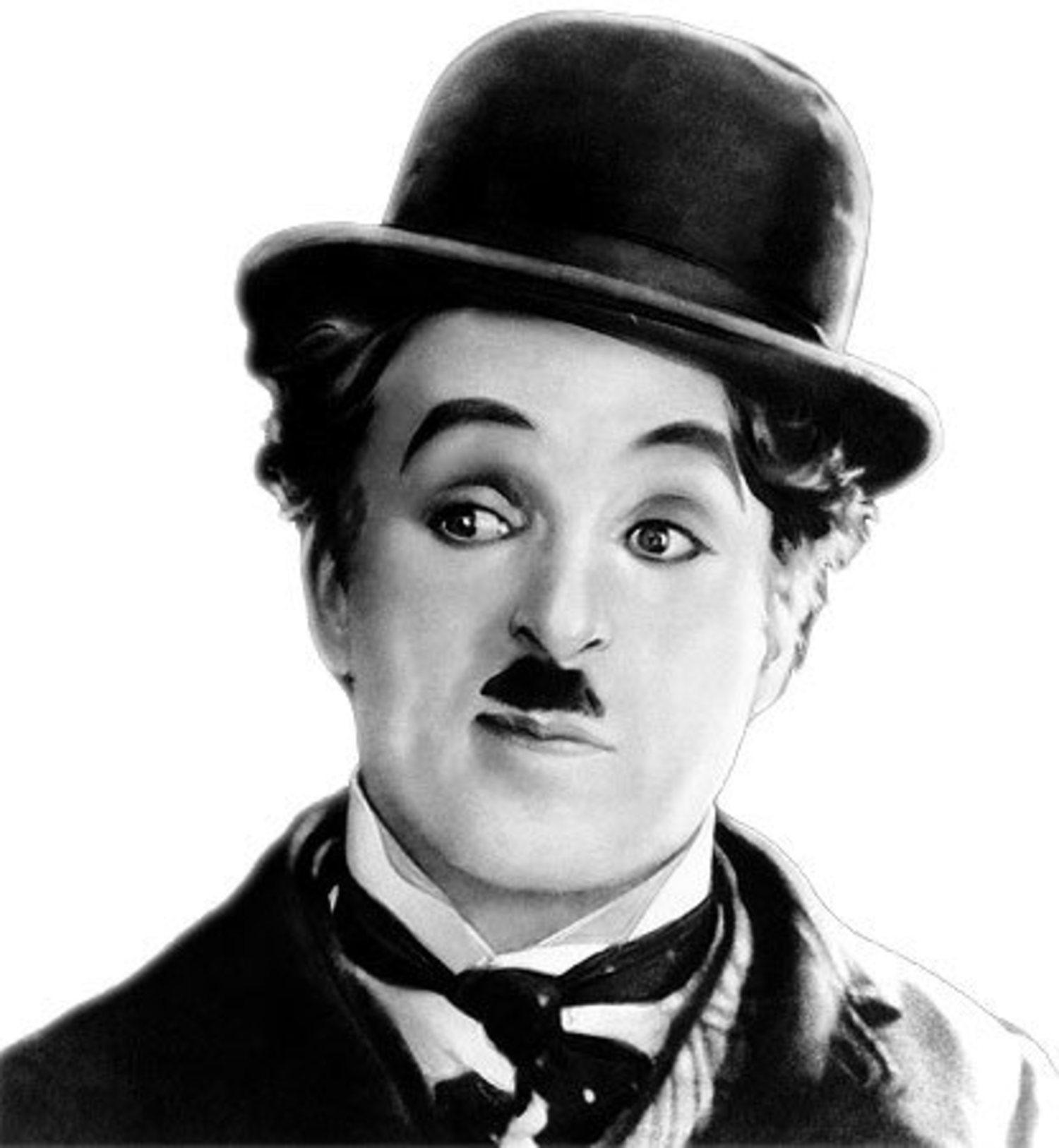 Charles Chaplin, el primer bigotudo del cine.
