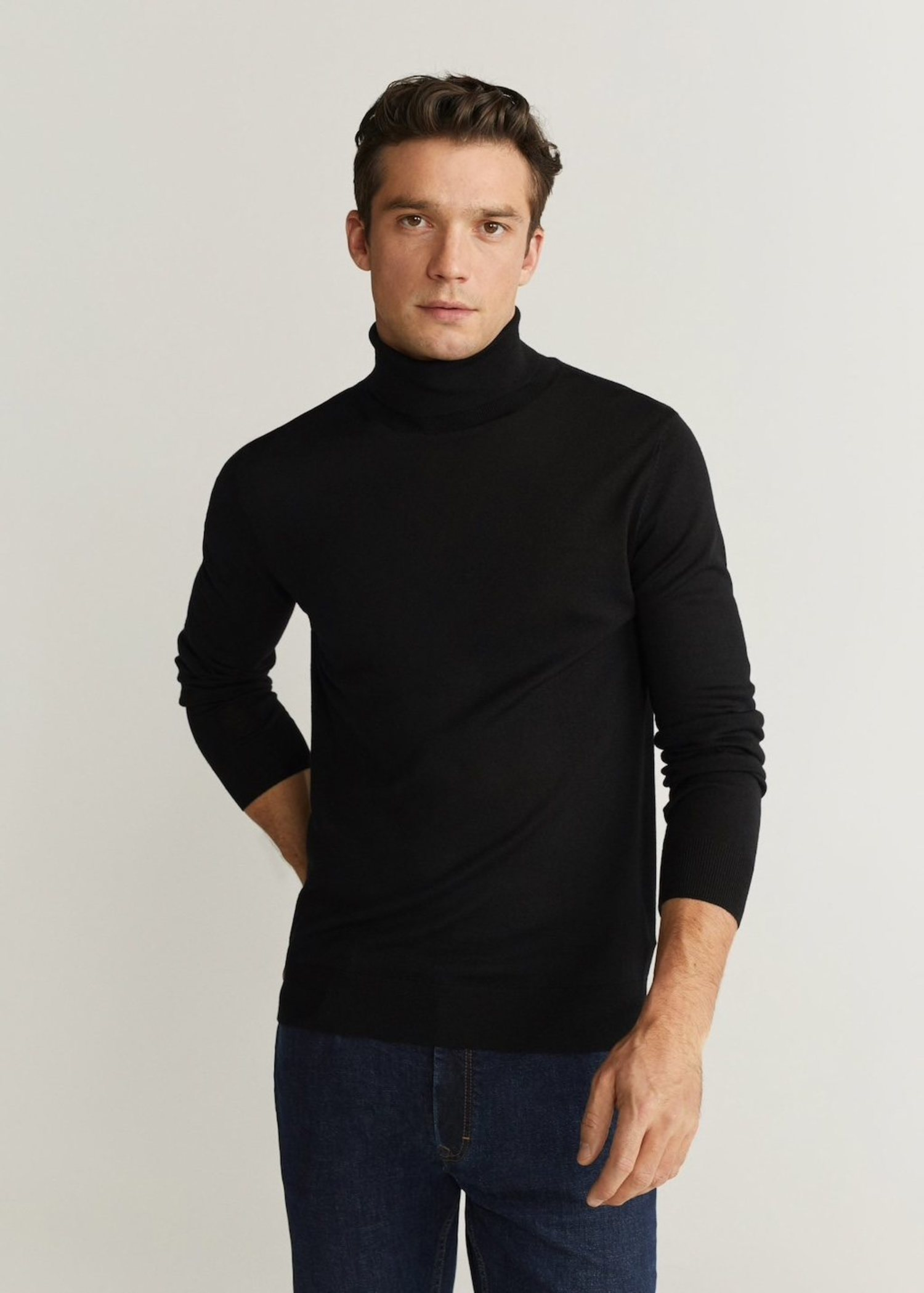 Jersey básico lana de merino.