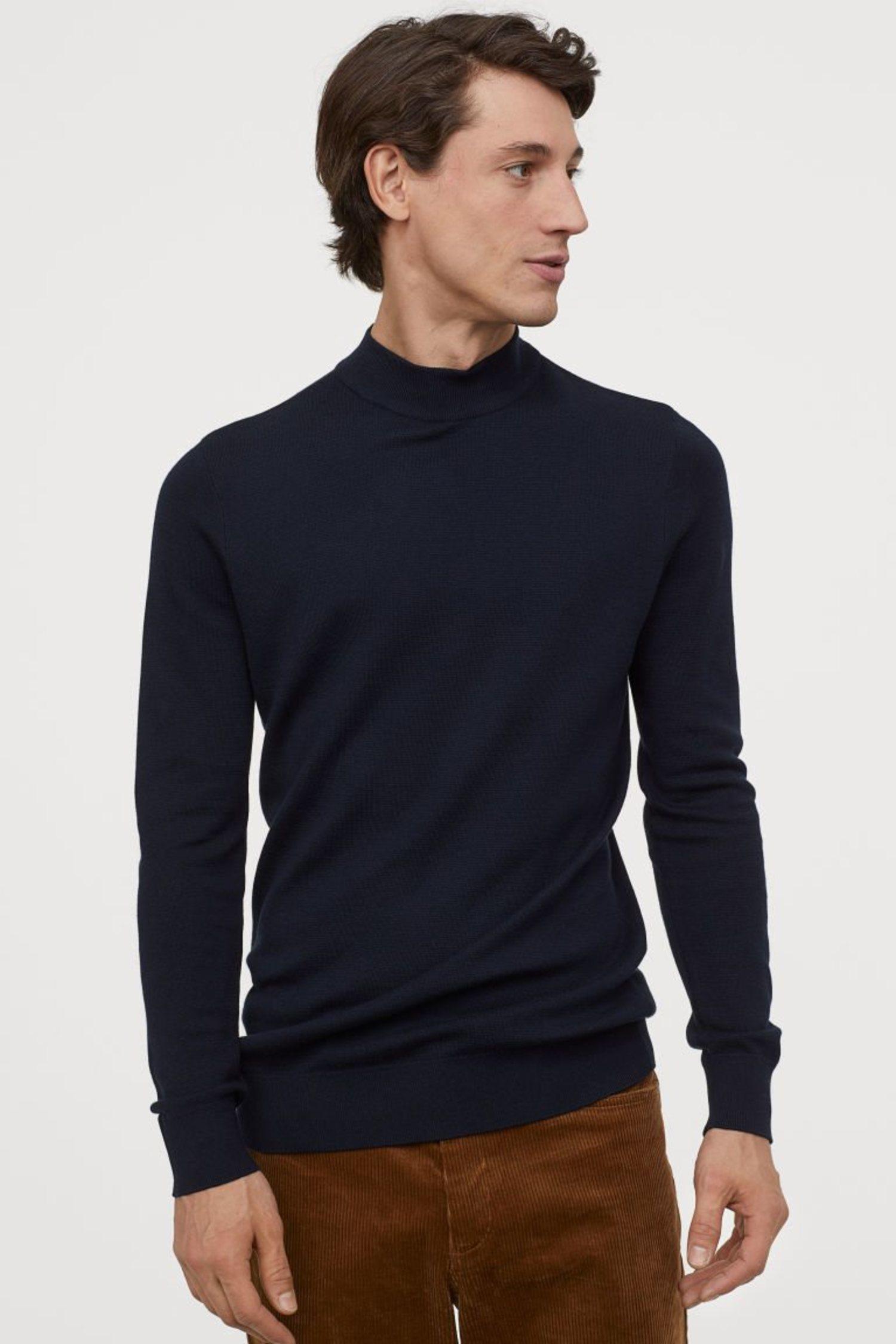 Jersey con cuello perkins