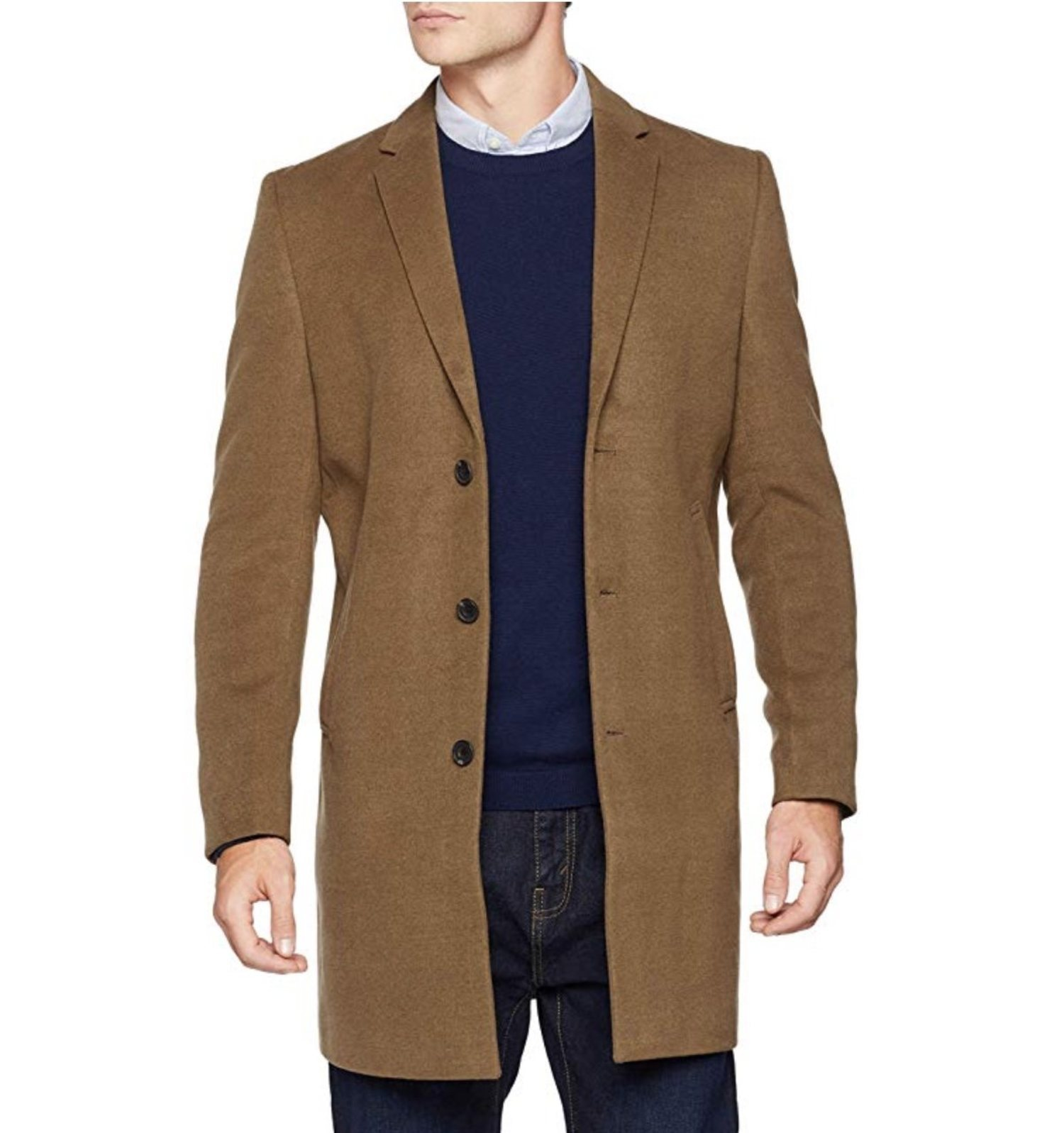 Abrigo de paño New Look (más colores disponibles).