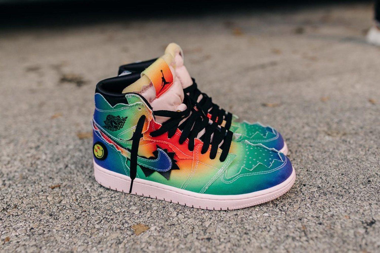 Las Air Jordan 1 de J Balvin son toda una explosión de colores.