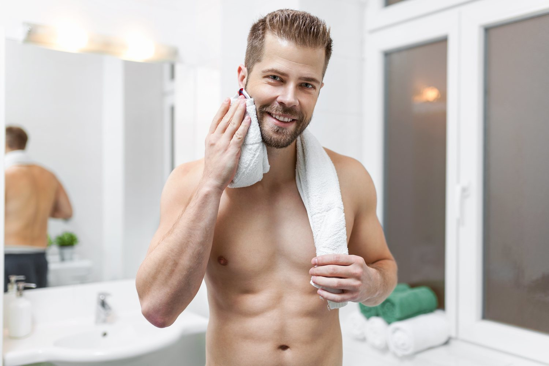 Regla fundamental a seguir: la barba seca siempre.