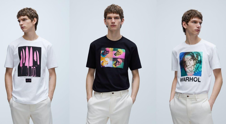 Camisetas de la colección de Andy Warhol.