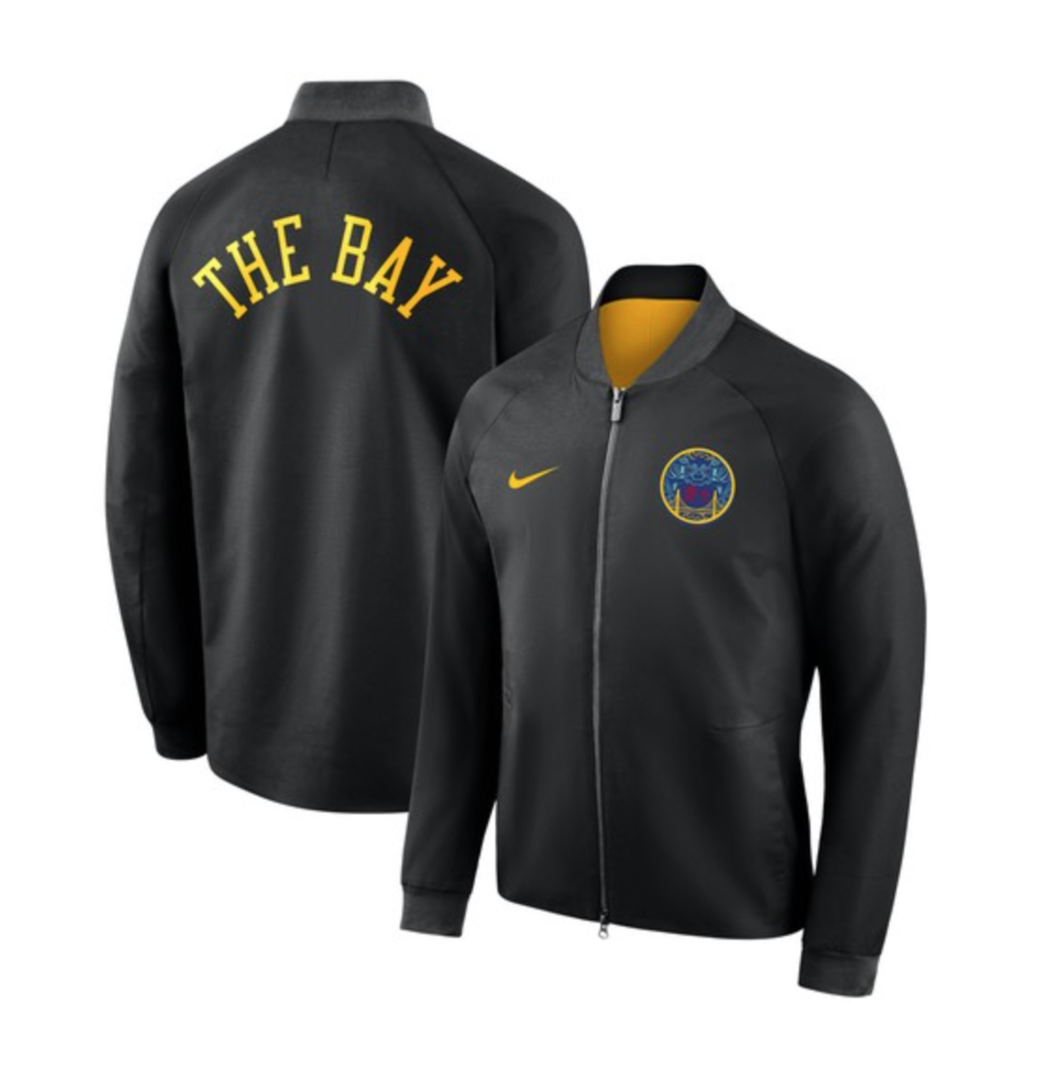 Nuevo modelo de la chaqueta de Golden State Warriors para la temporada  2018 19 e0f95932cd4